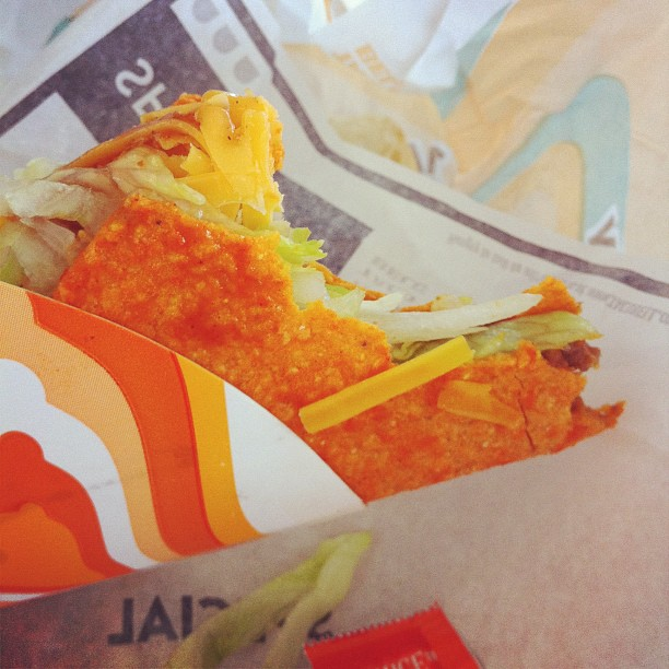 Dorito tacos / inspiration so genius / proves God's existence.