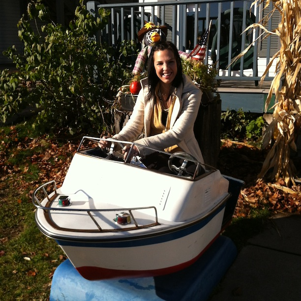 Captain Emily / revisiting her childhood / brings me for the ride