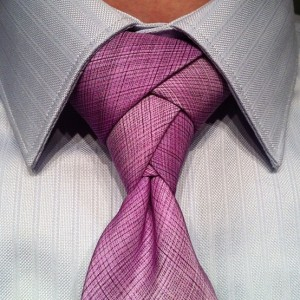 eldredge tie knot on purple tie