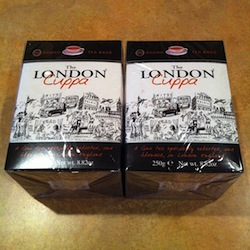 two boxes of London Cuppa brand tea, each box contains 80 tea bags