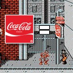 NES Ninja Gaiden level 1, demonstrating the Coca-Cola product placement.