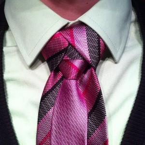 trinity tie knot on purple tie