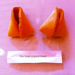 broken fortune cookie with the fortune You Have a Big Heart
