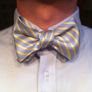 bow tie tied out of a $1 necktie