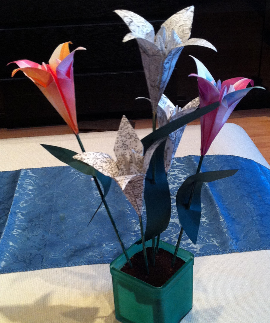 Valentines Day Gift Idea Origami Flowers Agreeordie