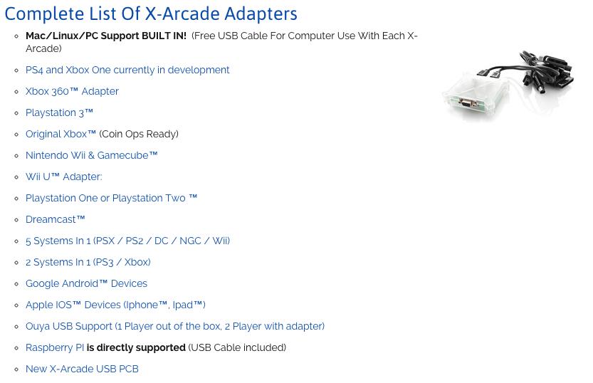 x-arcade-compatibility