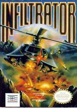 black helicopter raining gunfire on a landscape