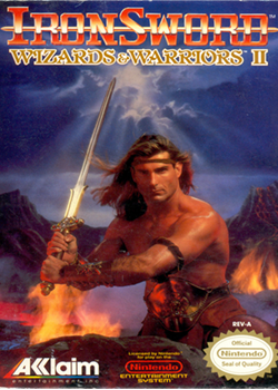 sword-wielding shirtless Fabio with a mountain range behind him