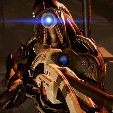 Geth infiltrator / totally oblivious / his hilarity #haiku