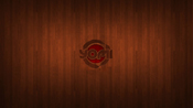 Yomi inspired wallpaper, wooden dojo floor with yomi logo carved out