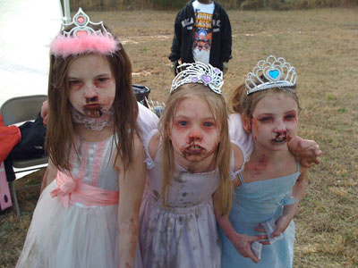 cute little zombie girls