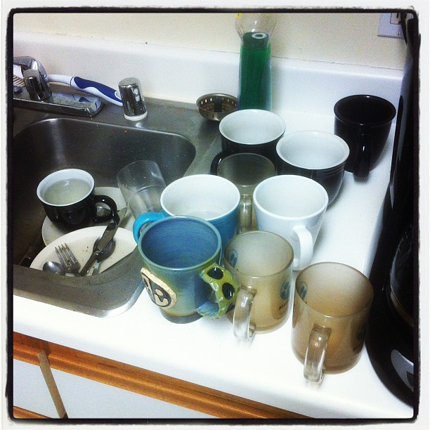 the mug collection / washing time cannot be spared / much too important #haiku