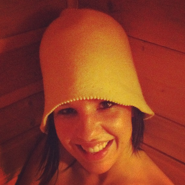 sauna session / I derive little pleasure / never miss the chance