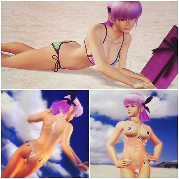 Prudish Ayane / a flurry of purple gifts / loosened that bitch up