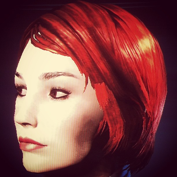 New female shepard face from Mass Effect