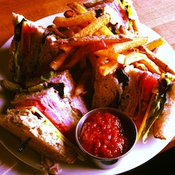 club sandwich at the republic