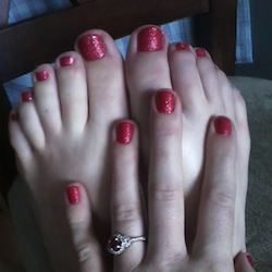 Emily's beautiful pedicure!