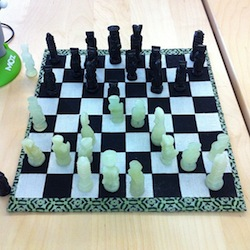 hand crafted chess board