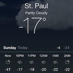 -17 degrees