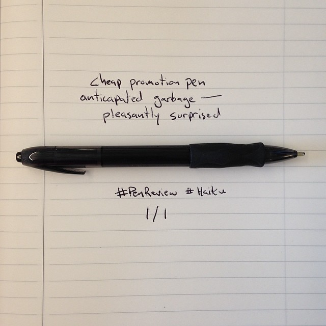 review of a promotional pen