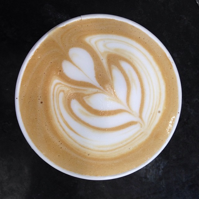 nice latte from dogwood coffee