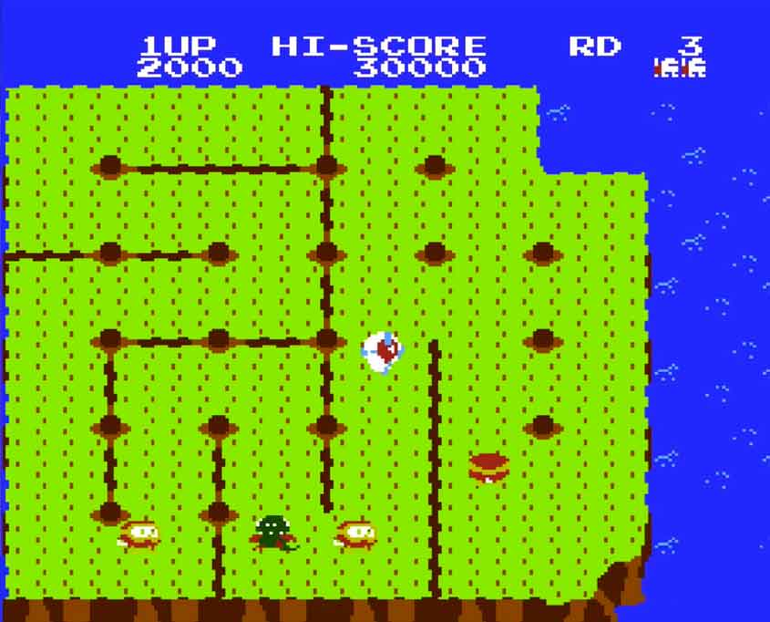 dig-dug-trouble-in-paradise-gameplay