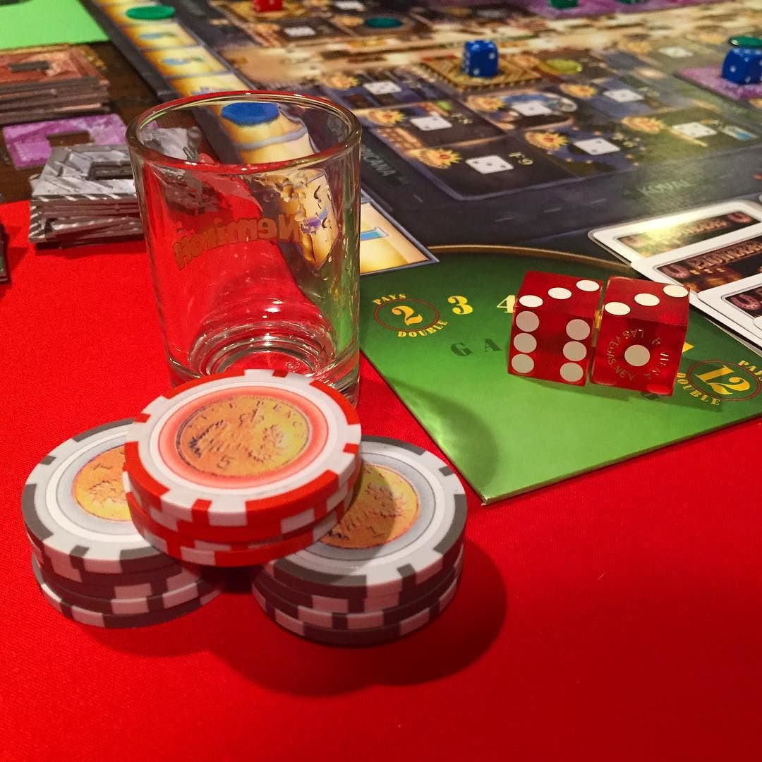 lords of vegas board game chips and dice
